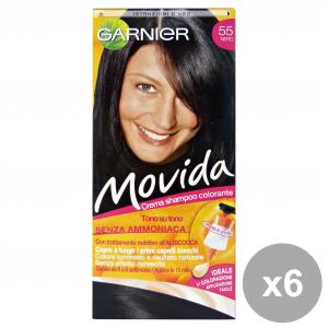 GARNIER Set 6 Movida 55 Black Without Ammonia