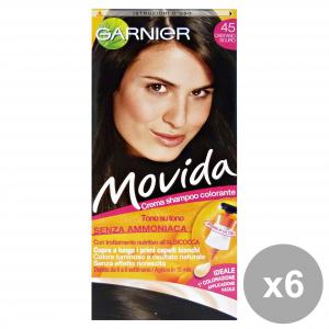 GARNIER Set 6 Movida 45 Dark Brown Without Ammonia