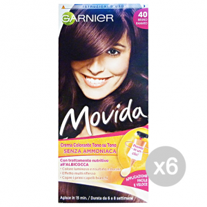 Set 6 GARNIER Movida 40 Brown Copper Without Ammonia
