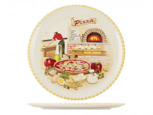 HOME Pizza Plate Ceramic Cm34 Bake
