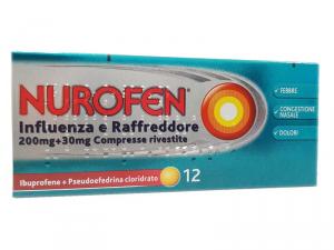 Nurofen Influenza e Raffreddore 200mg+30mg 12 cpr rivestite