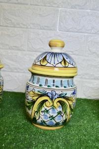 Tris Barattoli in ceramica grandi- linea lucida