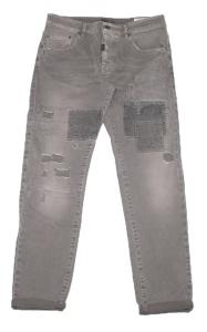 Pantalone taglio jeans grigio . A. Joy