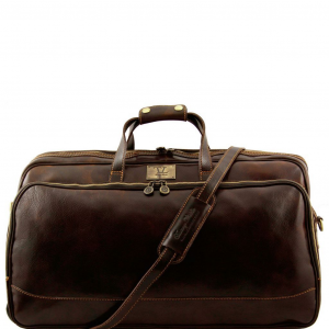 Tuscany Leather TL3067 Bora Bora - Trolley leather bag - Large size Dark Brown