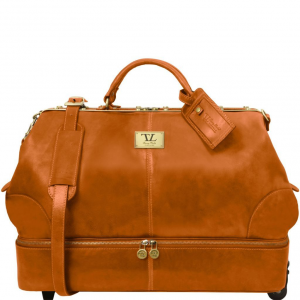 Tuscany Leather TL141451 Siviglia - Two wheeles double-bottom Gladstone leather bag Honey