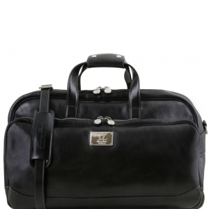 Tuscany Leather TL141452 Samoa - Trolley leather bag - Small size Black