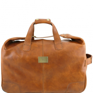 Tuscany Leather TL141537 Barbados - Trolley leather bag Natural
