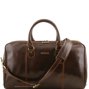Tuscany Leather TL1045 Paris - Travel leather duffle bag Dark Brown