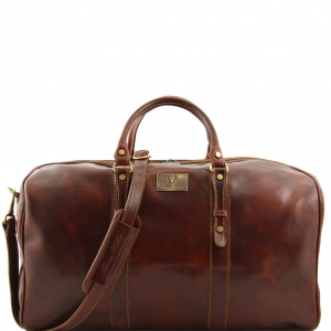 Tuscany Leather FC140860 Francoforte - Exclusive Leather Weekender Travel Bag - Large size Brown