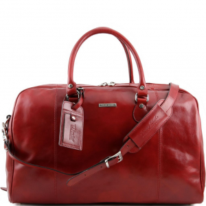 Tuscany Leather TL141218 TL Voyager - Travel leather duffle bag Red