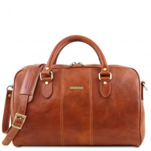 Tuscany Leather TL141658 Lisbona - Sac de voyage en cuir - Petit modèle Miel