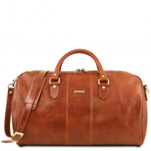 Tuscany Leather TL141657 Lisbona - Sac de voyage en cuir - Grand modèle Miel