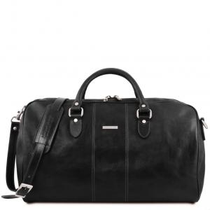 Tuscany Leather TL141657 Lisbona - Sac de voyage en cuir - Grand modèle Noir