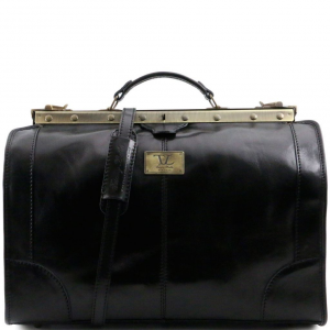 Tuscany Leather TL1023 Madrid - Gladstone Leather Bag - Small size Black