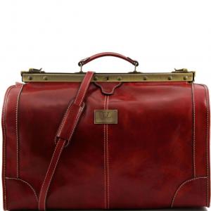 Tuscany Leather TL1022 Madrid - Sac de voyage en cuir - Grand modèle Rouge