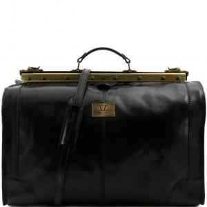 Tuscany Leather TL1022 Madrid - Sac de voyage en cuir - Grand modèle Noir