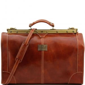 Tuscany Leather TL1022 Madrid - Sac de voyage en cuir - Grand modèle Miel
