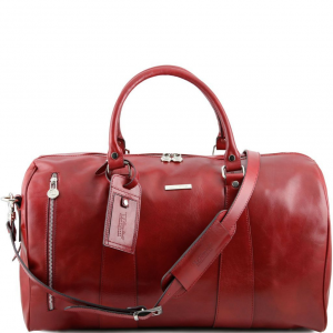 Tuscany Leather TL141217 TL Voyager - Travel leather duffle bag - Large size Red