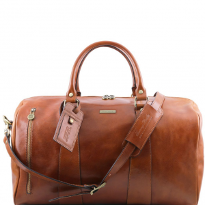 Tuscany Leather TL141217 TL Voyager - Travel leather duffle bag - Large size Honey