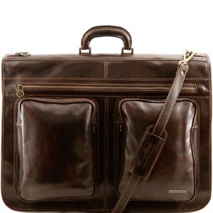Tuscany Leather TL3030 Tahiti - Garment leather bag Dark Brown