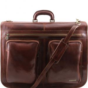 Tuscany Leather TL3030 Tahiti - Garment leather bag Brown