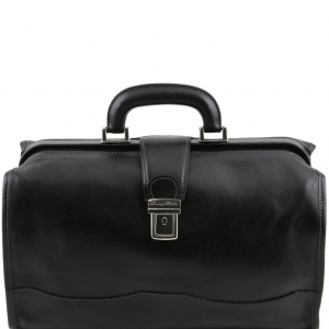 Tuscany Leather TL10077 Raffaello - Doctor leather bag Black