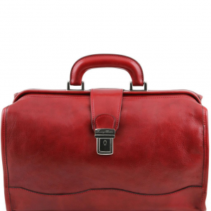 Tuscany Leather TL10077 Raffaello - Doctor leather bag Red