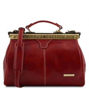 Tuscany Leather TL10038 Michelangelo - Doctor gladstone leather bag Red