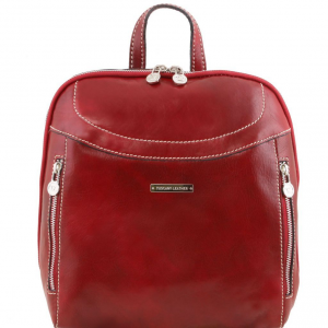 Tuscany Leather TL141557 Manila - Zaino in pelle Rosso