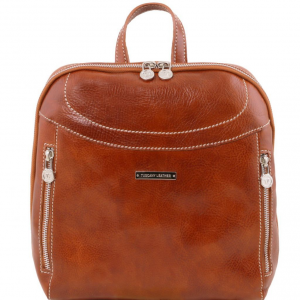 Tuscany Leather TL141557 Manila - Leather backpack Honey