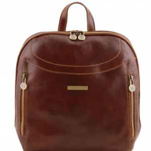 Tuscany Leather TL141557 Manila - Sac à dos en cuir Marron