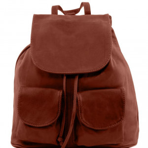 Tuscany Leather TL141508 Seoul - Leather backpack Small size Brown