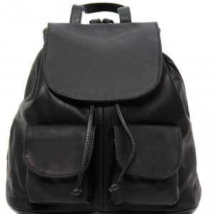 Tuscany Leather TL141507 Seoul - Leather backpack Large size Black