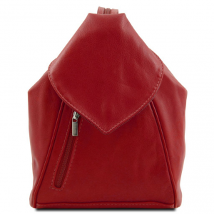 Tuscany Leather TL140962 Delhi - Leather backpack Red