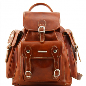 Tuscany Leather TL9052 Pechino - Leather Backpack Honey