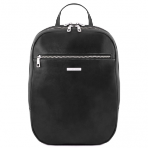 Tuscany Leather TL141711 Osaka - Leather laptop backpack Black