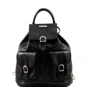 Tuscany Leather TL9035 Tokyo - Leather Backpack Black