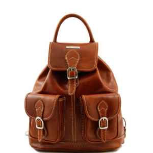 Tuscany Leather TL9035 Tokyo - Leather Backpack Honey