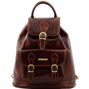 Tuscany Leather TL9039 Singapore - Sac à dos en cuir Marron