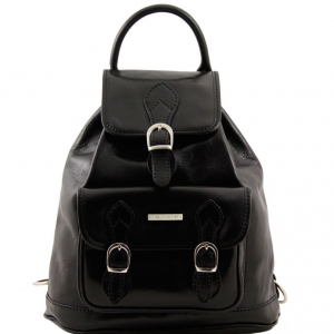 Tuscany Leather TL9039 Singapore - Leather - Backpack Black