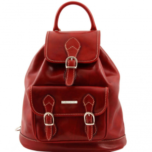 Tuscany Leather TL9039 Singapore - Sac à dos en cuir Rouge