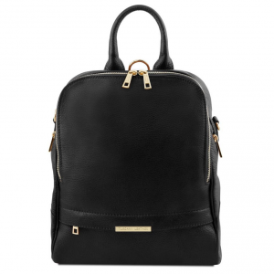Tuscany Leather TL141376 TL Bag - Soft leather backpack for women Black