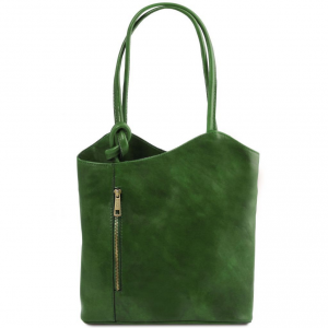 Tuscany Leather TL141497 Patty - Leather convertible bag Green