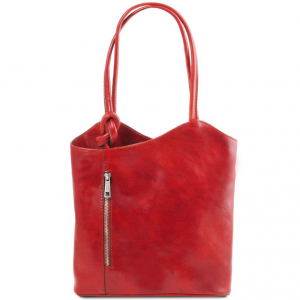 Tuscany Leather TL141497 Patty - Leather convertible bag Red
