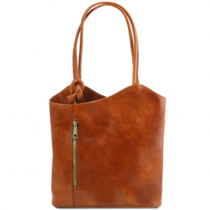 Tuscany Leather TL141497 Patty - Leather convertible bag Honey