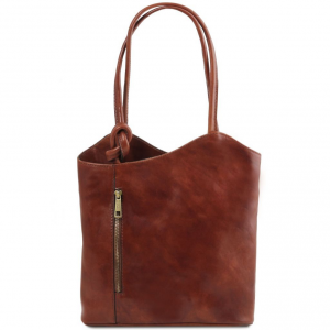 Tuscany Leather TL141497 Patty - Leather convertible bag Brown
