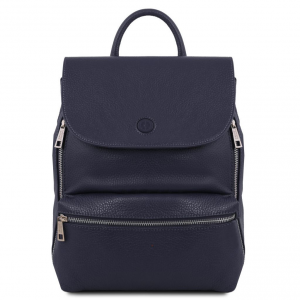 Tuscany Leather TL141729 Margherita - Leather backpack Dark Blue
