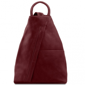 Tuscany Leather TL140963 Shanghai - Leather backpack Bordeaux