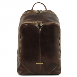 Tuscany Leather TL141715 Mumbai - Leather backpack Dark Brown