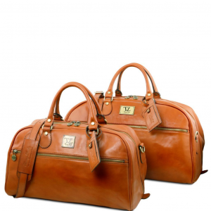 Tuscany Leather TL141258 Magellano - Set da viaggio in pelle Miele